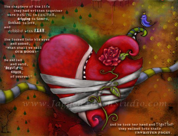 Beautiful Chaos Heart Drippings Print