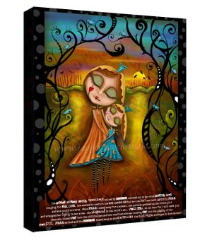 Broken Winged Child Canvas Sample