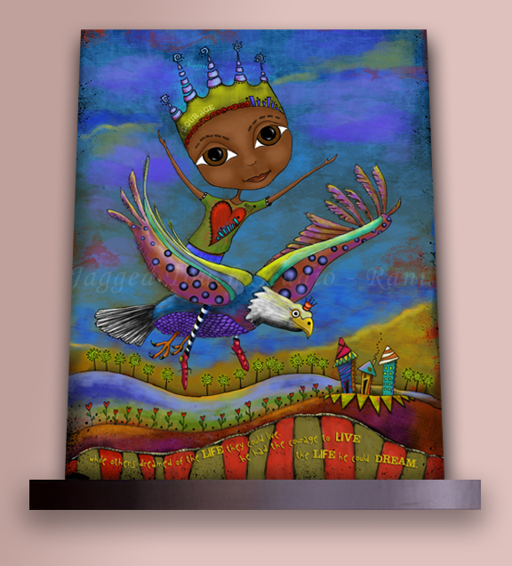 Courage to Live Canvas Print on shelf vertical