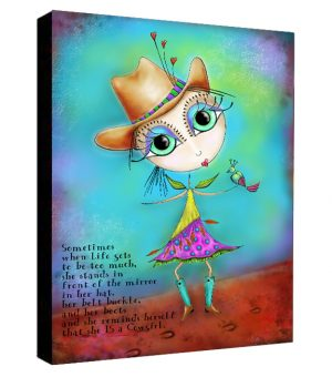 Cowgirl Up Canvas Sample