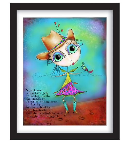 Cowgirl Up Framed Sample