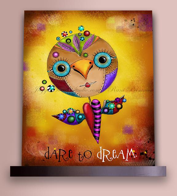 Dream Bird on Shelf Sample