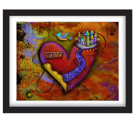 Follow Your Heart Dream Framed Sample