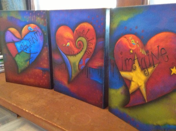 Set of 3 Everything is Possible Series Canvas Box