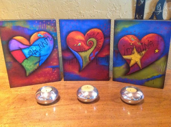 Set of 3 Everything is Possible Series Canvas Box Display