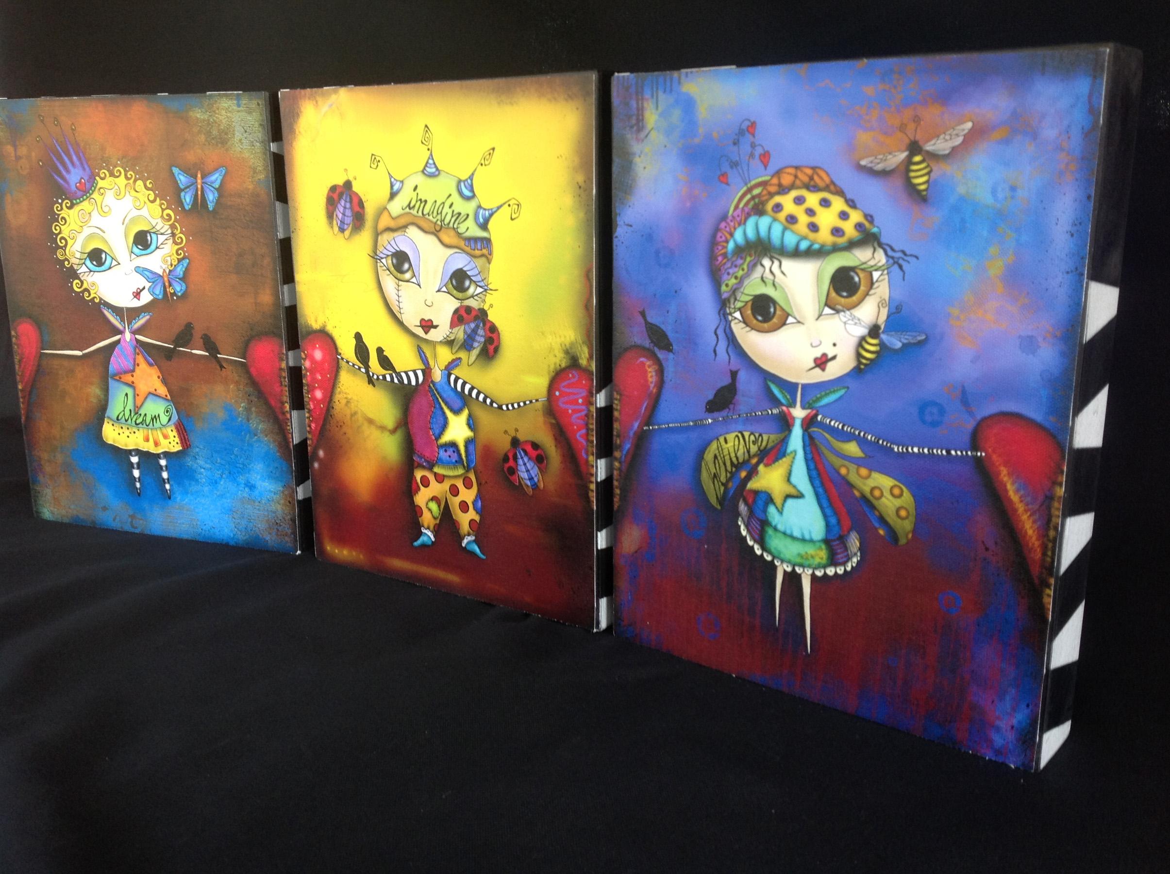 Heart-Full Links Canvas Box Set of Three