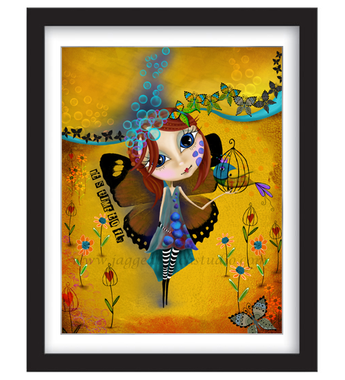 Its Time to Fly Framed Sample