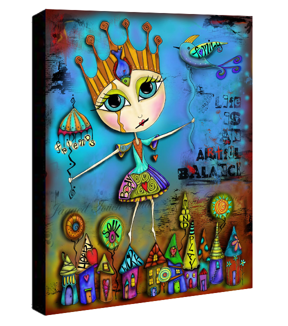 Life is an Artful Balance Canvas Sample