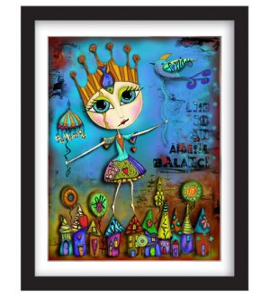 Life is an Artful Balance Framed Sample