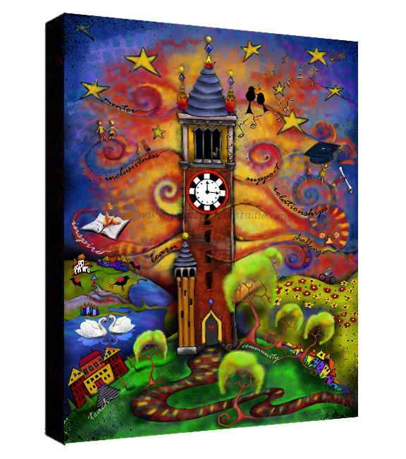Making a Difference _ Cardinal and Gold Canvas Sample