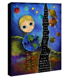 My Child Believe Boy Canvas Sample
