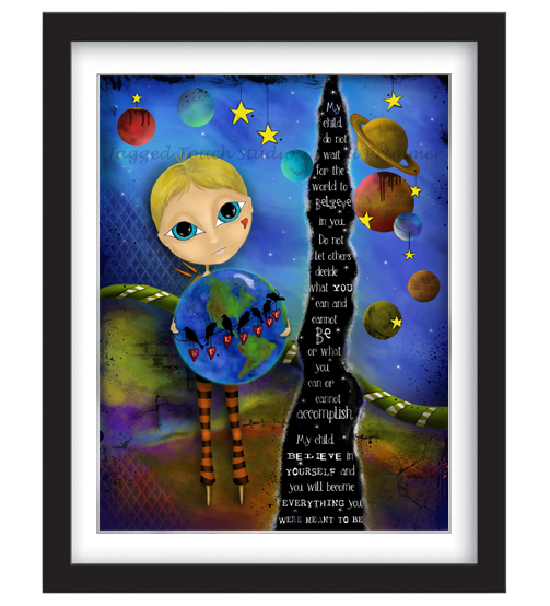 My Child Believe (Boy) Framed Sample
