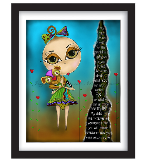 My Child Believe (Girl) Framed Sample
