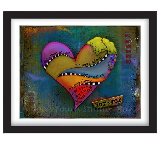 One More Forever Heart Framed Sample