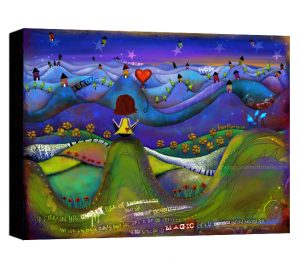 Sea of Possibilities Brunette Canvas Sample