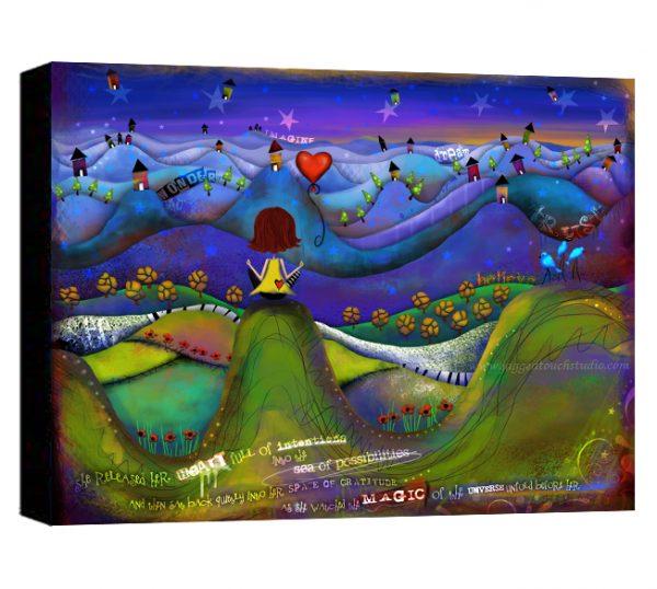 Sea of Possibilities Brunette Canvas Sample