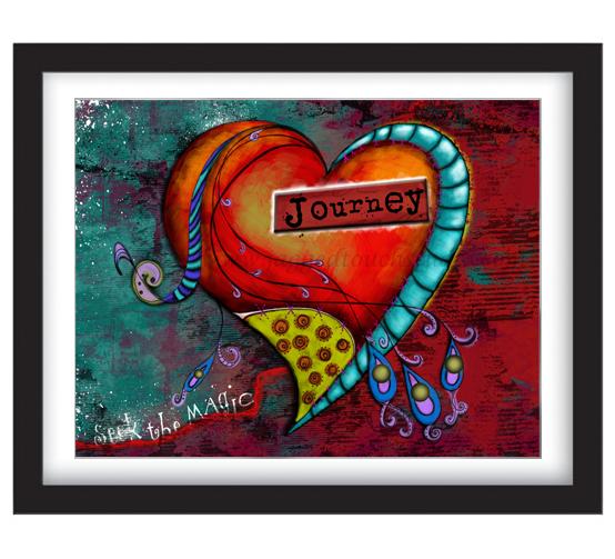 Seek the Magic Journey Heart Framed Sample