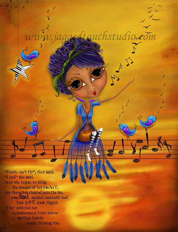 Songs of the Heart (African American) Print