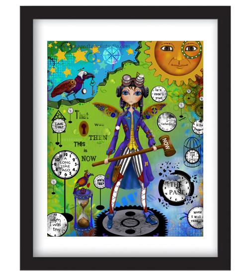 Time Traveler Framed Sample