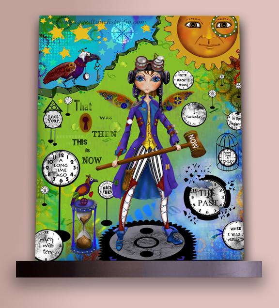 Time Traveler on Shelf Sample