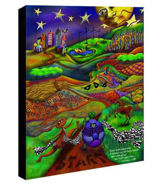 Victory Lap Canvas Sample