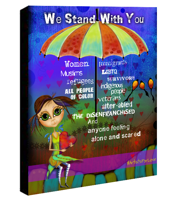 We Stand With You Canvas Sample