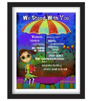 We Stand With You Framed Sample