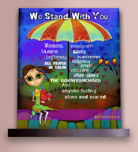 We Stand With You on Shelf Sample