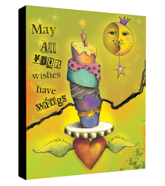 Winged Wishes Canvas Sample