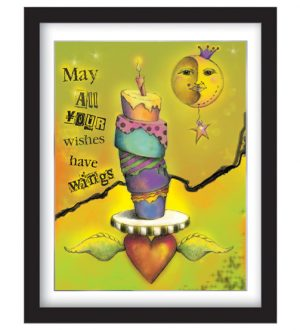 Winged Wishes Framed Sample