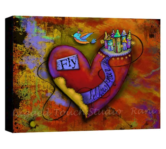 ZHD Follow Your Heart Fly Canvas Sample