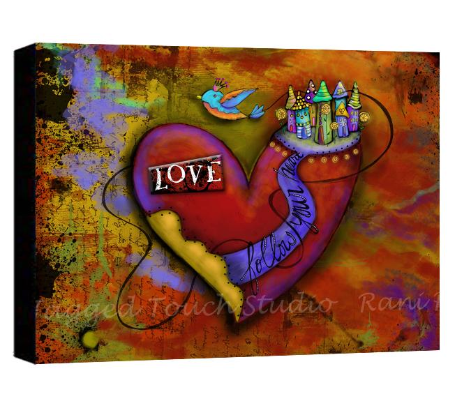 ZHD Follow Your Heart Love Canvas Sample