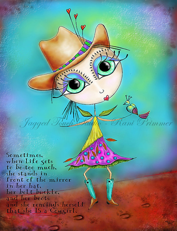Cowgirl Up Print
