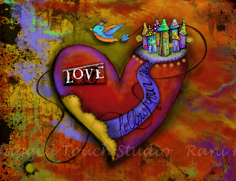Follow Your Heart - Love Print