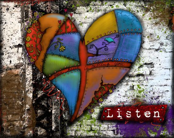 Listen Heart Print