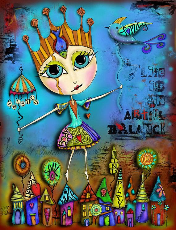 Life is an Artful Balance Print